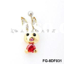 New Fashion Body Piercing Jewelry, owl navel belly rings body piercing jewelry FG-8DF016