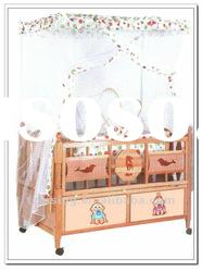 New Style Comfortabe Multifunctional Luxury Baby Wood Bed(9002F)