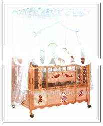 New Style Comfortable Multifunctional Luxury Baby Wood Bed(9001F)