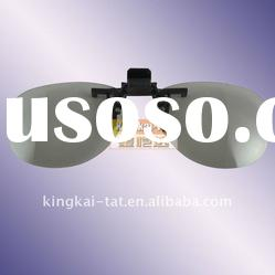 New ! circular polarized clip on 3d glasses for 3d theaters