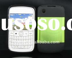 New design ! Metal Aluminum Surface+Silicone Shiny Back Case For Blackberry Bold Curve 8520/9300