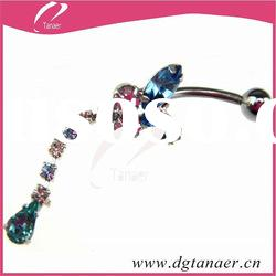 New design body piercing jewelry college navel ring