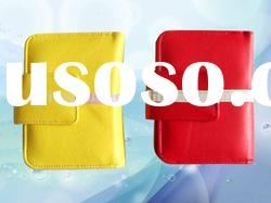 New fashion PU card holder with an outside zip pocket