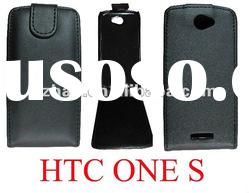 New shine Flip leather case for HTC ONE S with hard case