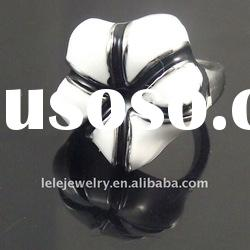 New style white stainless steel rings jewellery with flower designs