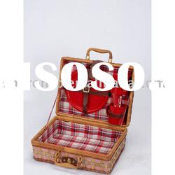 New style wicker picnic basket for 2 persons(SBA-3570)