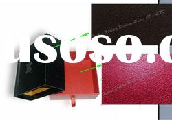 Nice leather-like PVC coated box cover paper
