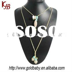 PN-4667 Fashion Pendent Crystal Collar Necklaces Jewelry Designs Wholesales