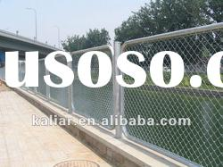 PVC chain link fence/poly vinyl coated wire mesh