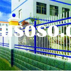 Plastic spraying rot proof zinc steel Wrought iron fence of protecting wire mesh fence