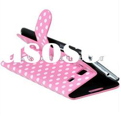 Polka Dot Stand Leather Case for Samsung i9300 Galaxy S3