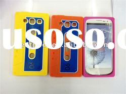Promotion!!! Cassette tape Silicone Rubber case for samsung galaxy s3 i9300 Mixed colors