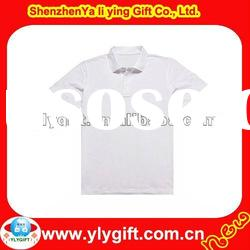 Promotional short sleeve plain polo shirts with rib collar and cuff