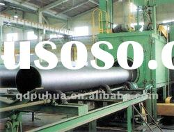 QGW steel pipe outer wall shot blasting machine / cleaning machine