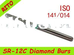 SR-12C Round End Taper Diamond Burs,Good Quality Dental Diamond Burs - Rito Dental Quality Products