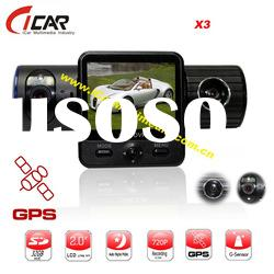 Seamless 2ch Vehicle Car Camera DVR Video Recorder