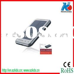 Solar energy chargers with high capacity battery option