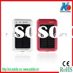 Solar mobile phone charger for GPS with led light