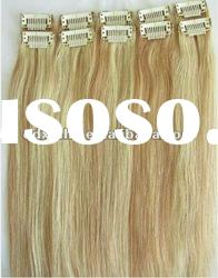 Super top quality clip on human hair weaving