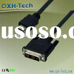 The most popular electronic cable in china!HDMI to DVI Cable,dvi gold plated connector