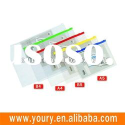 Transparent pvc zipper file bag