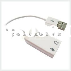 USB 2.0 Virtual 7.1 Channel Audio Sound Card Adapter 3D FOR Win7 Mac Windows