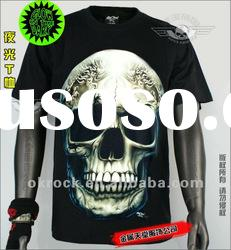 WHOLESALE SKULL T SHIRTS GR-434 GLOW IN THE DARK T-SHIRTS