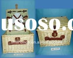 Wicker picnic basket with cheap price