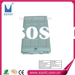 With ABS plastic material FTTH optical terminal box OTB-E24 and 2 cable entry ports