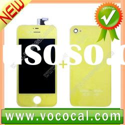 Yellow Color LCD Digitizer w/ Back Cover for iPhone 4S 4GS