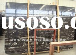 black marble slab white lines ----Cheap black marble
