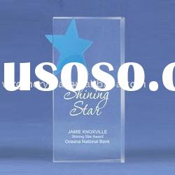 blue star crystal star plaques and awards