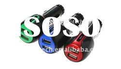 cheap!!!cell phone car charger with three colors