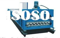 corrugated tile making machine for roof and wall