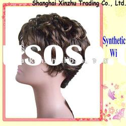 dark brown curly synthetic wigs for sale SW-079 women's wigs