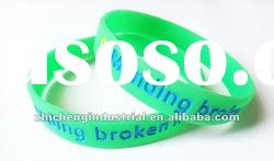 debossed silicone bracelet with colors filled