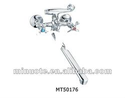dual handle wall mounted bath mixer, shower faucet