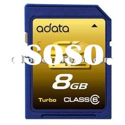 factory derect sale 8GB high speed sd card/ high speed memory flash card