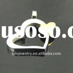 fahsion stainless steel heart pendant popular in Europe and America