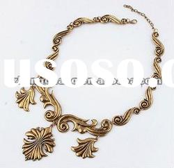 fashion alloy gold plated flower Pendant Necklace jewelry