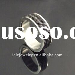 fashion black stainless steel men's ring
