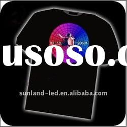 fashion design item and Low price led flashing T-shirts/led light t-shirt