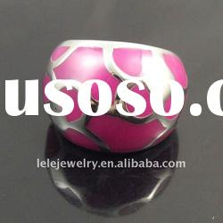fashion pink stainless steel rings settings without stones