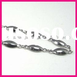 fashion stainless steel mariner link bead chain necklaces designs for women jewelry