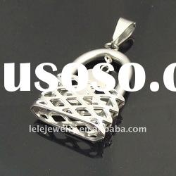 fashion stainless steel pendant jewelry with lock and key pendant