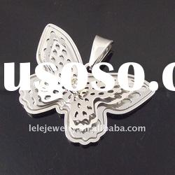 fashion stainless steel piebald butterfly pendant jewelry popular in boys and girls