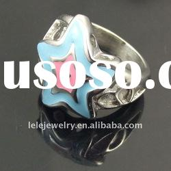 fashion stainless steel rings 2011 for women