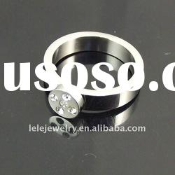 fashion stainless steel rings jewellery with diamond