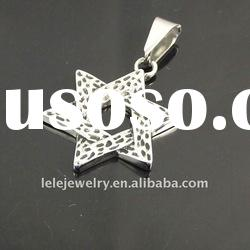 fashion stainless steel star pendant jewelry popular in girls