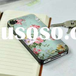 flower silicone case for iphone 4